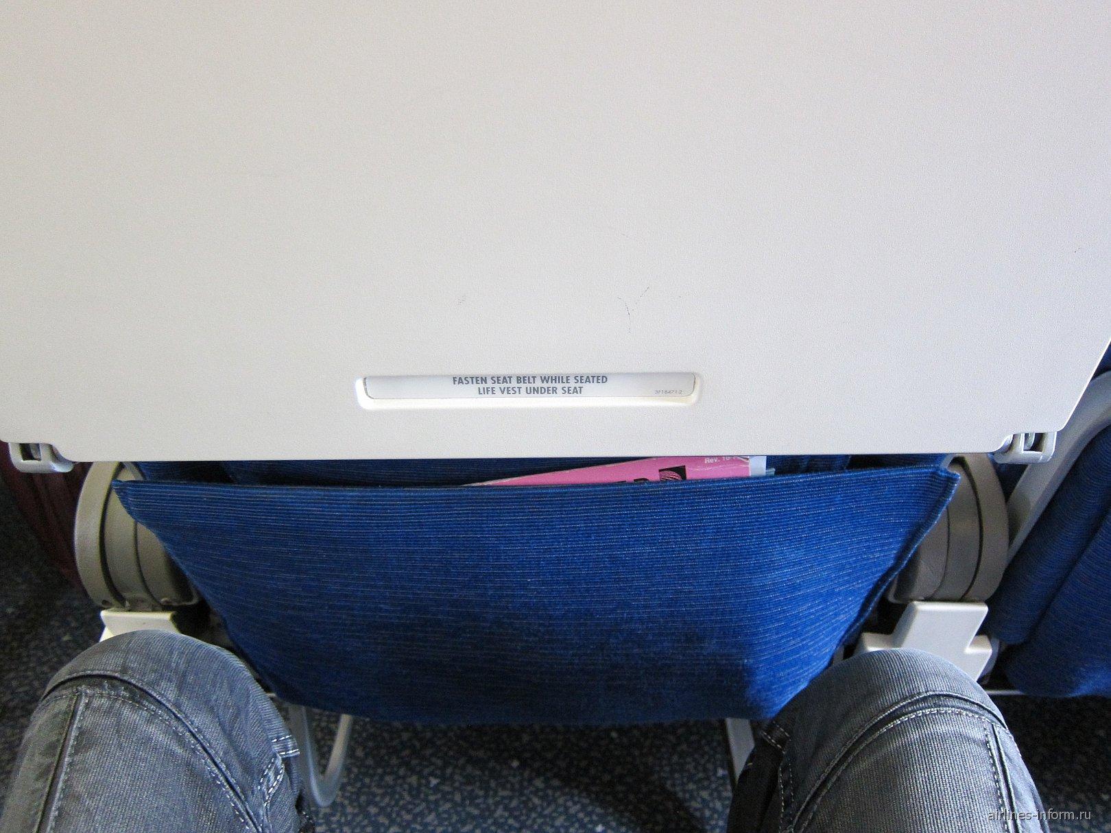 Салон самолета Airbus A319 авиакомпании United