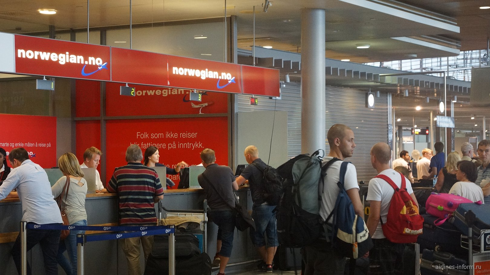 Представительство авиакомпании Norwegian аэропорту Осло Гардермуэн