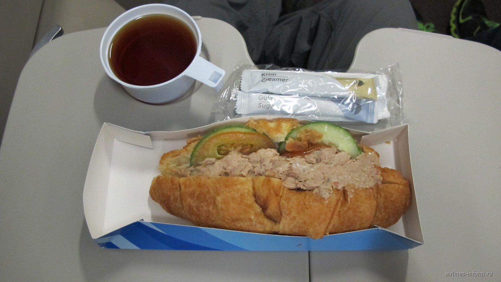 Второе питание на рейсе Малайзийских авиалиний Куала-Лумпур - Пекин