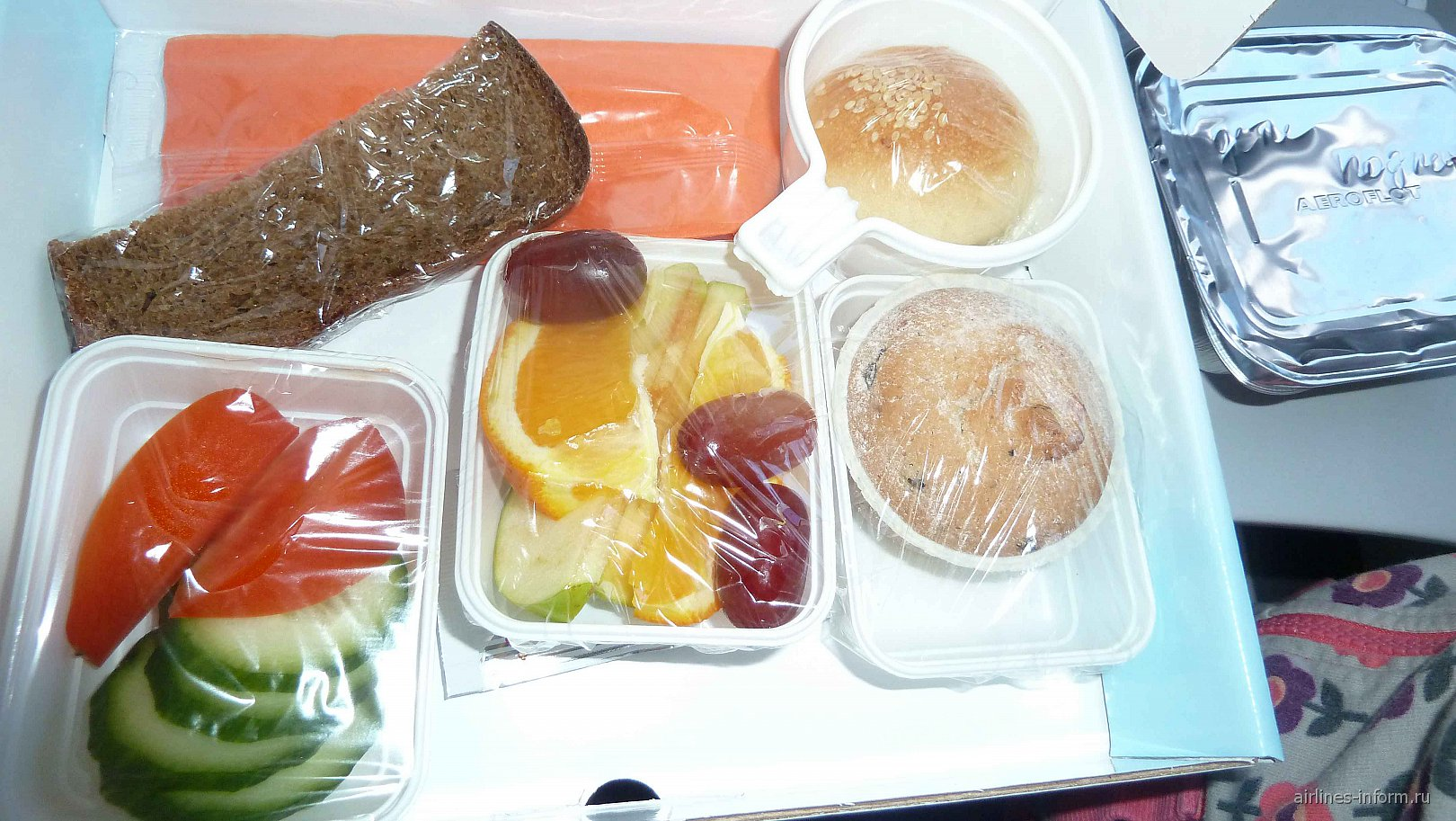 Питание на рейсе Аэрофлота Петропавловск-Камчатский-Москва