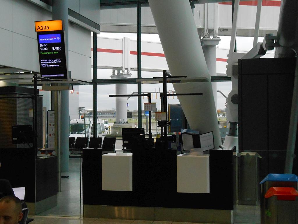 Гейт выхода на посадку в Терминале 5 аэропорта Хитроу