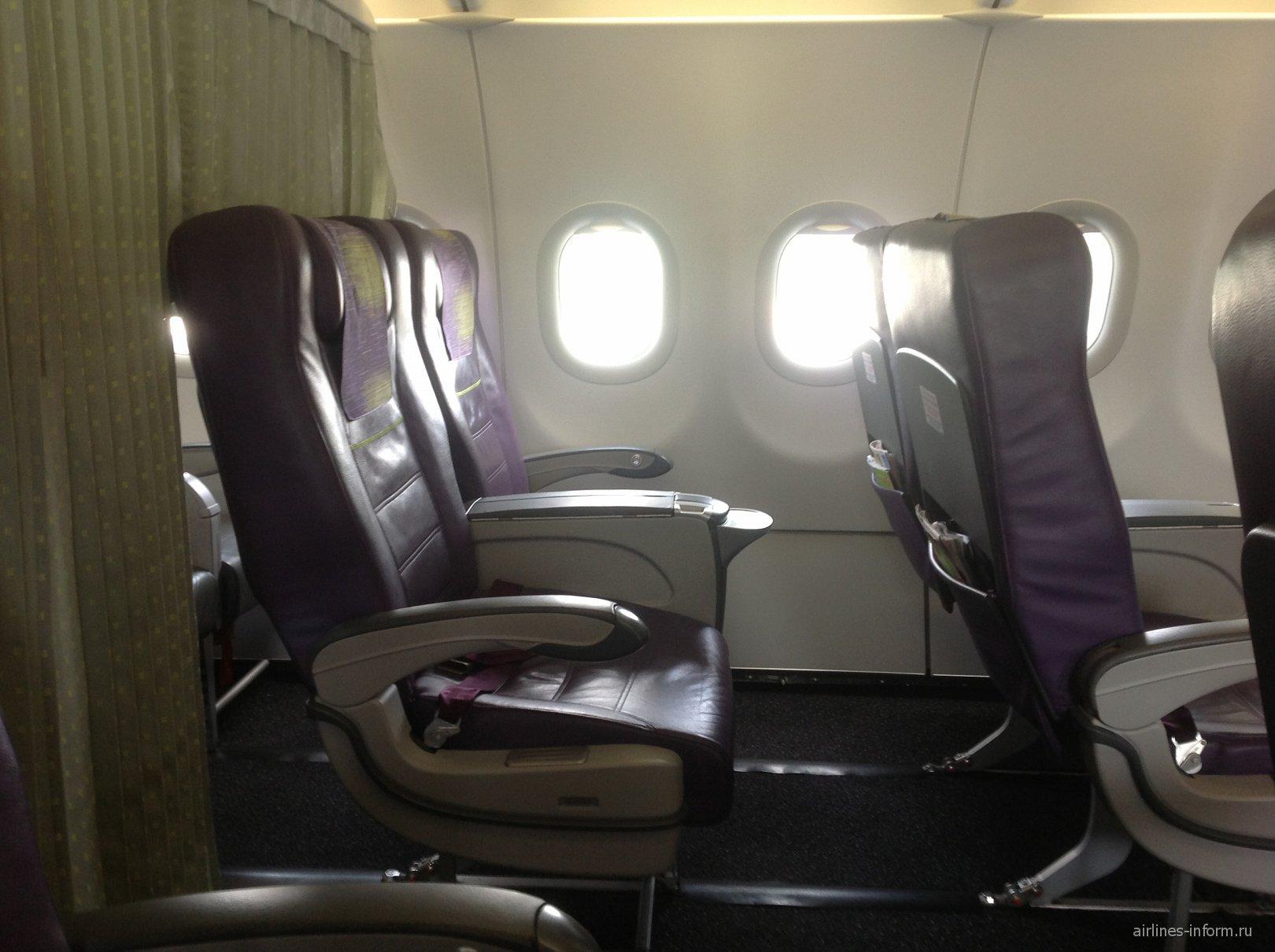 Бизнес-класс в самолете Airbus A320 авиакомпании S7 Airlines