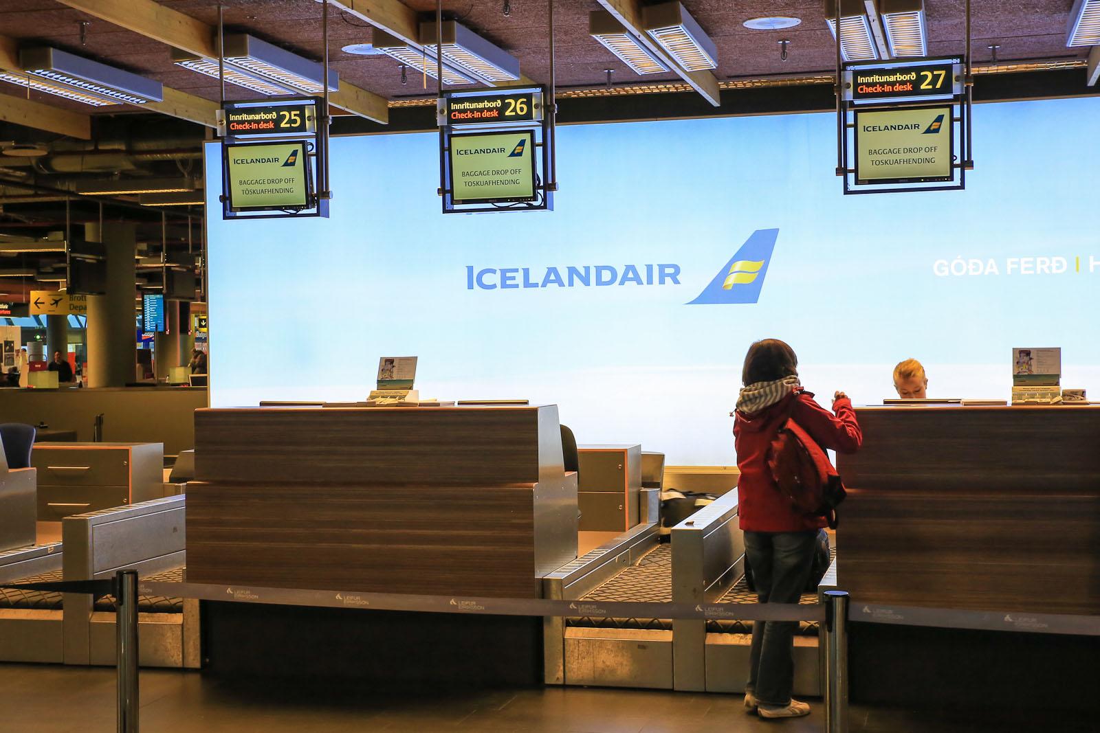 Стойки регистрации Icelandair в аэропорту Рейкьявик Кефлавик