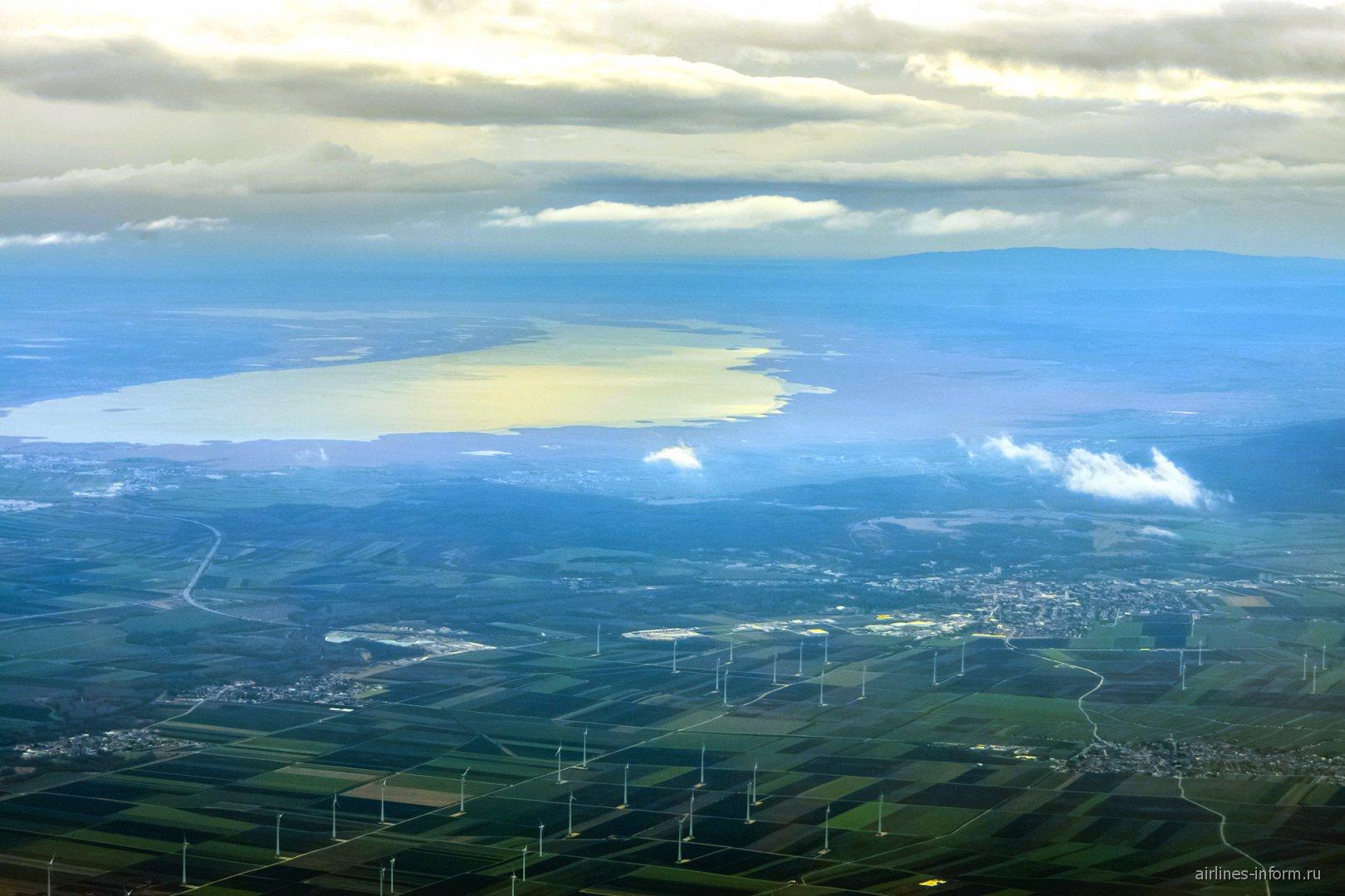 Озеро Нойзидлерзее в Австрии
