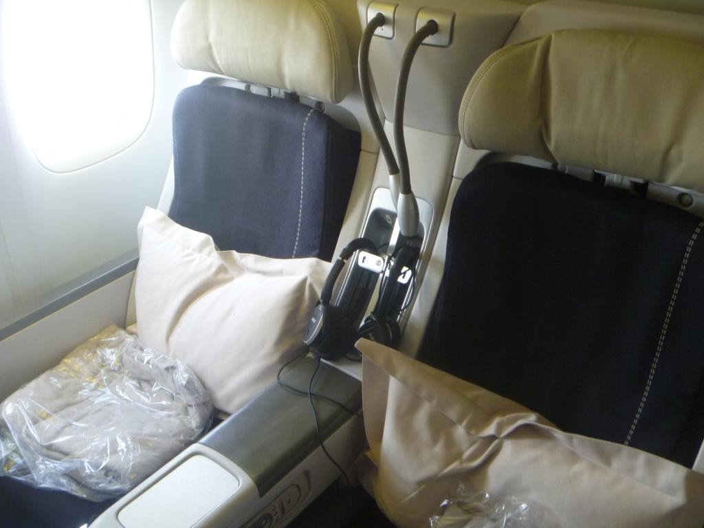 Кресла бизнес-класса в Боинге-777-300 авиакомпании Air France