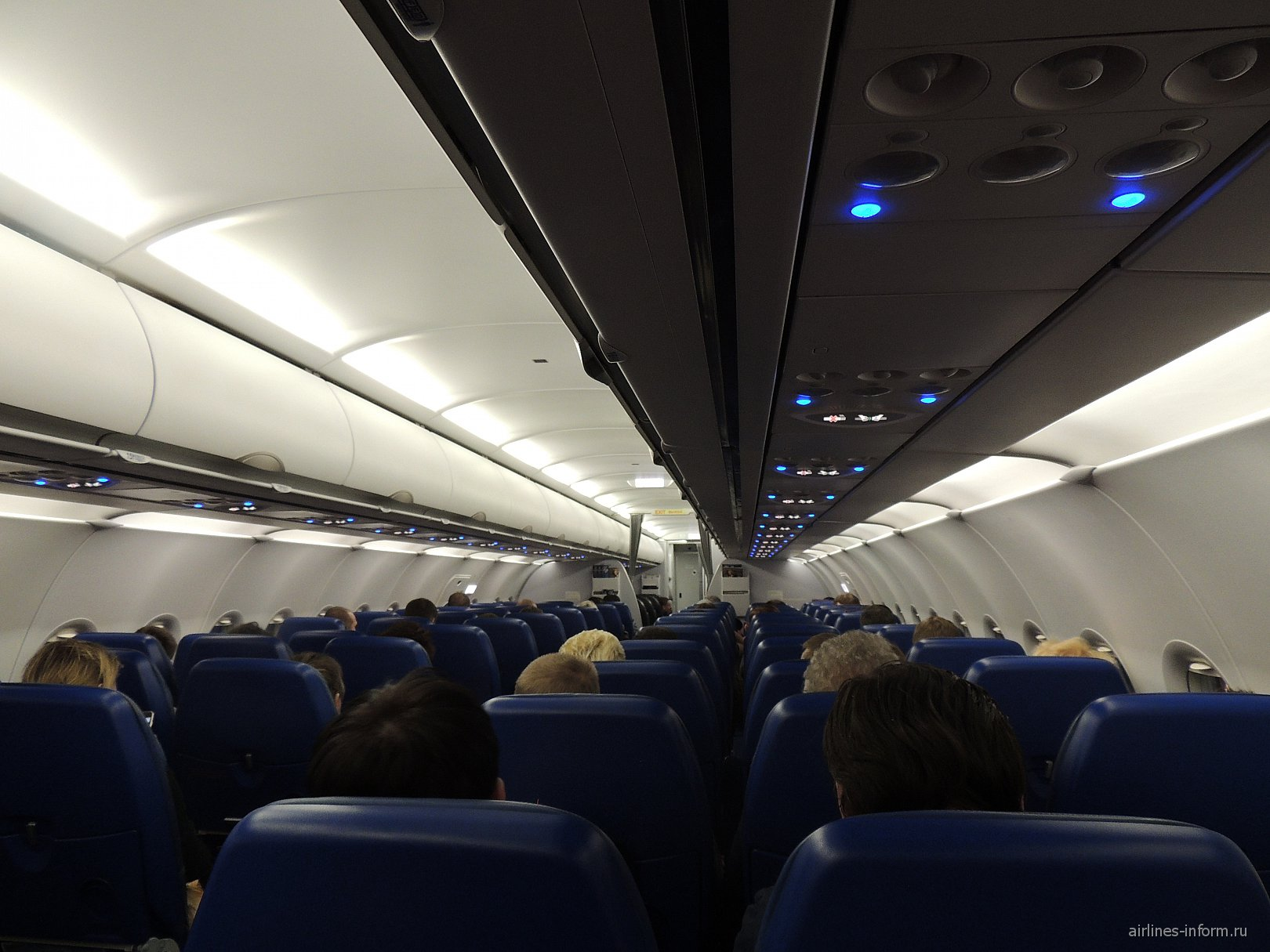 "Салон самолета Airbus A319 авиакомпании ""Аэрофлот"""