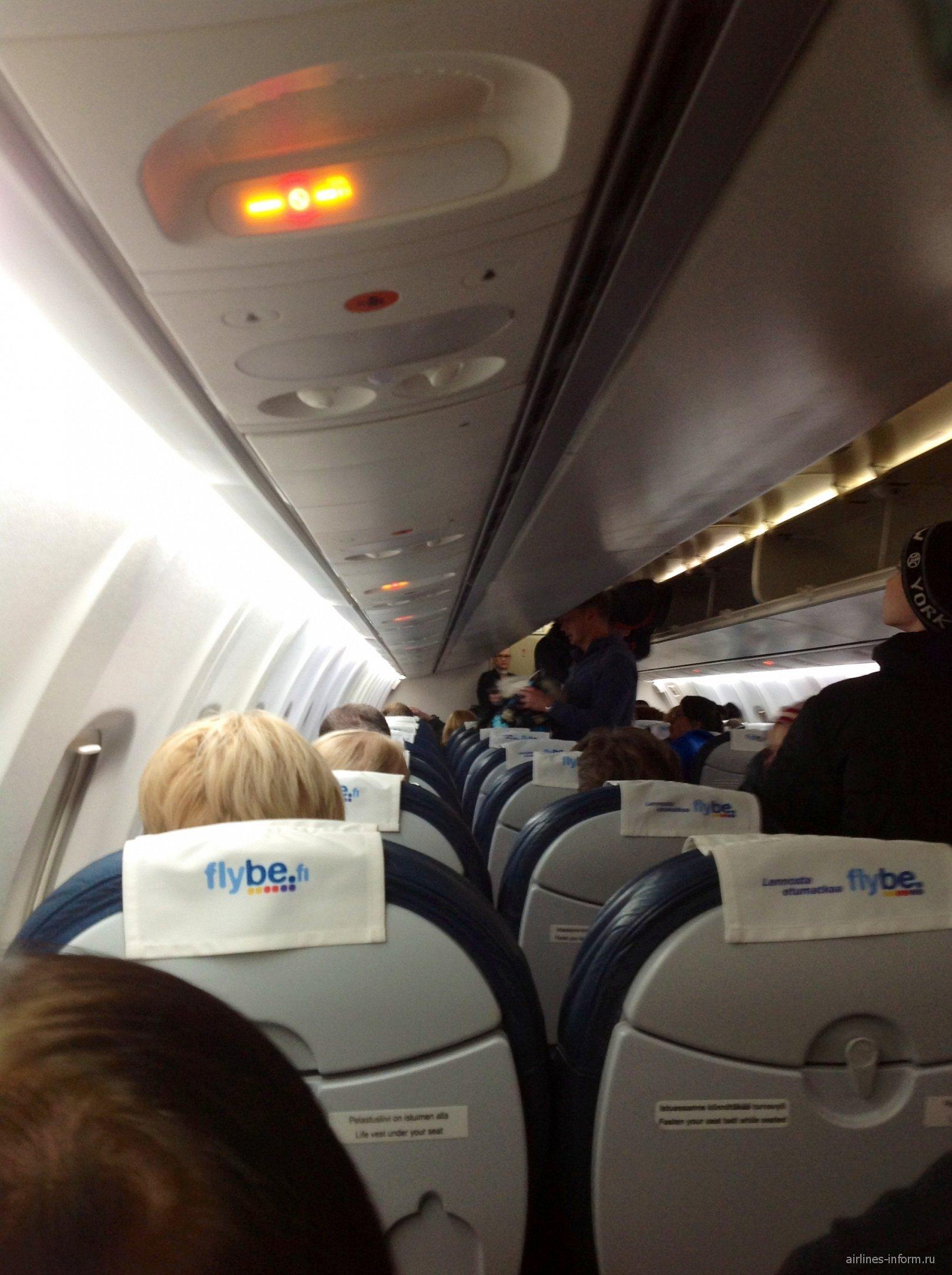 Салон самолета ATR 72 Flybe
