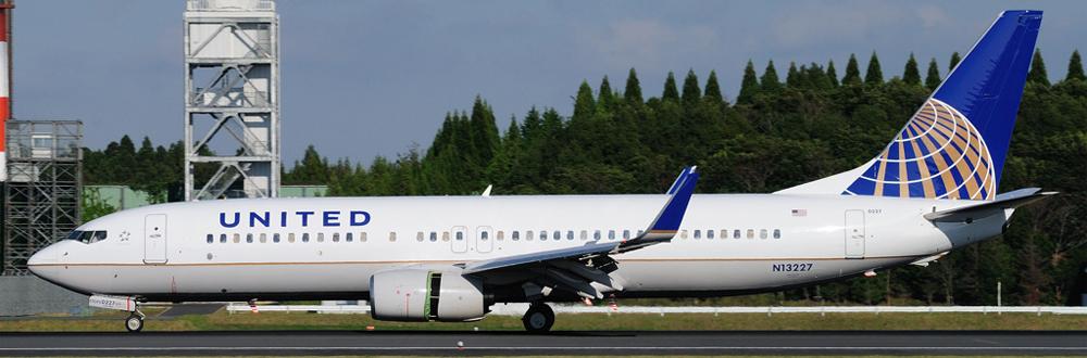 Самолет Boeing 737-800 авиакомпании United