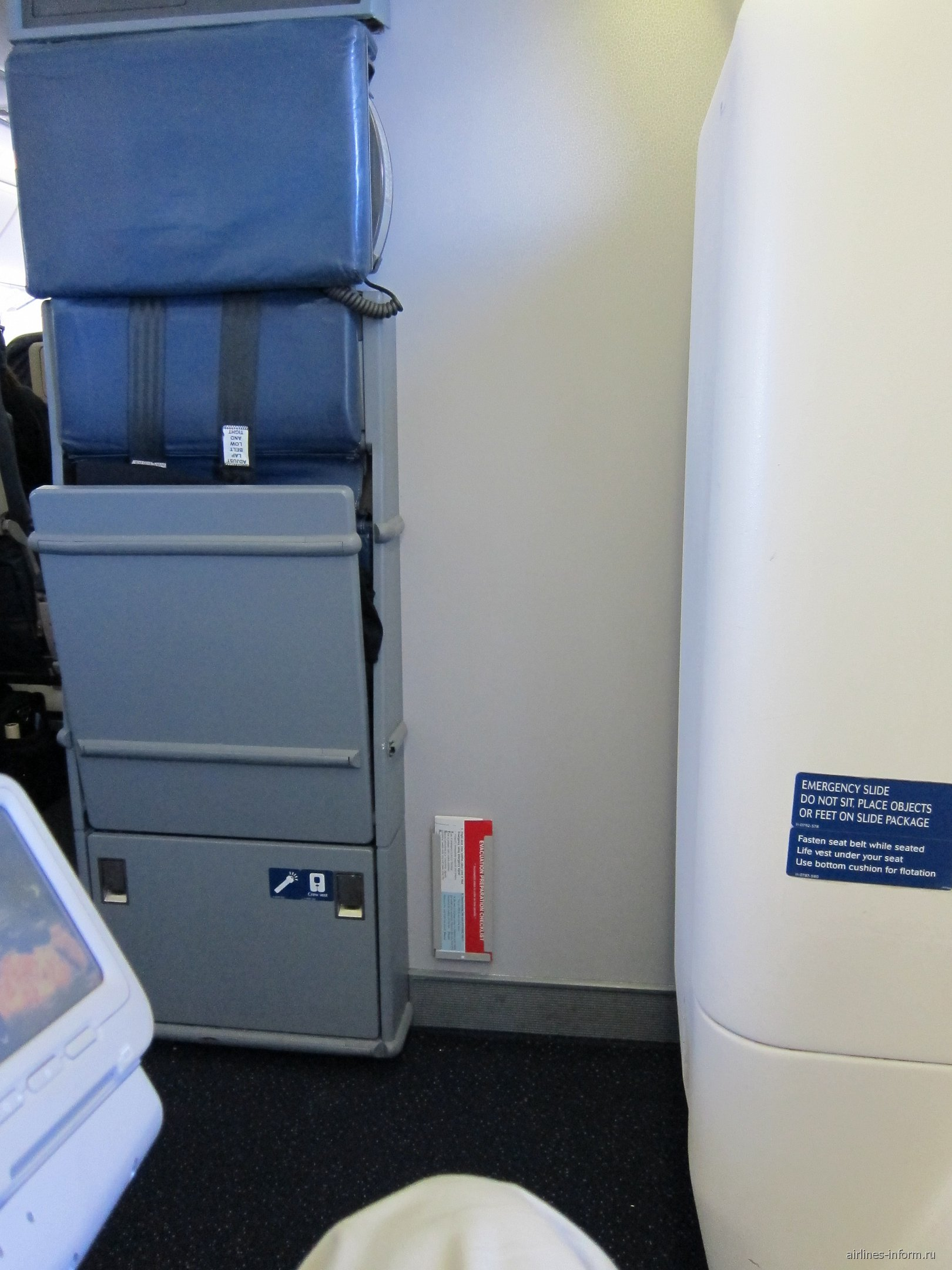Салон самолета Боинг-767-400 авиакомпании Дельта