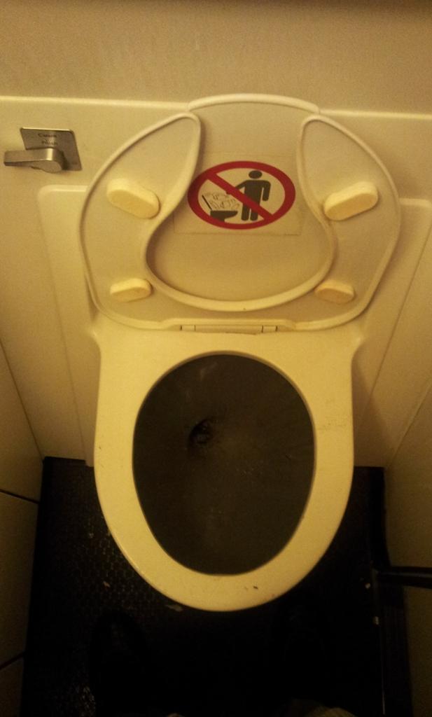 Туалет самолета Боинг-767-300 Аэрофлота