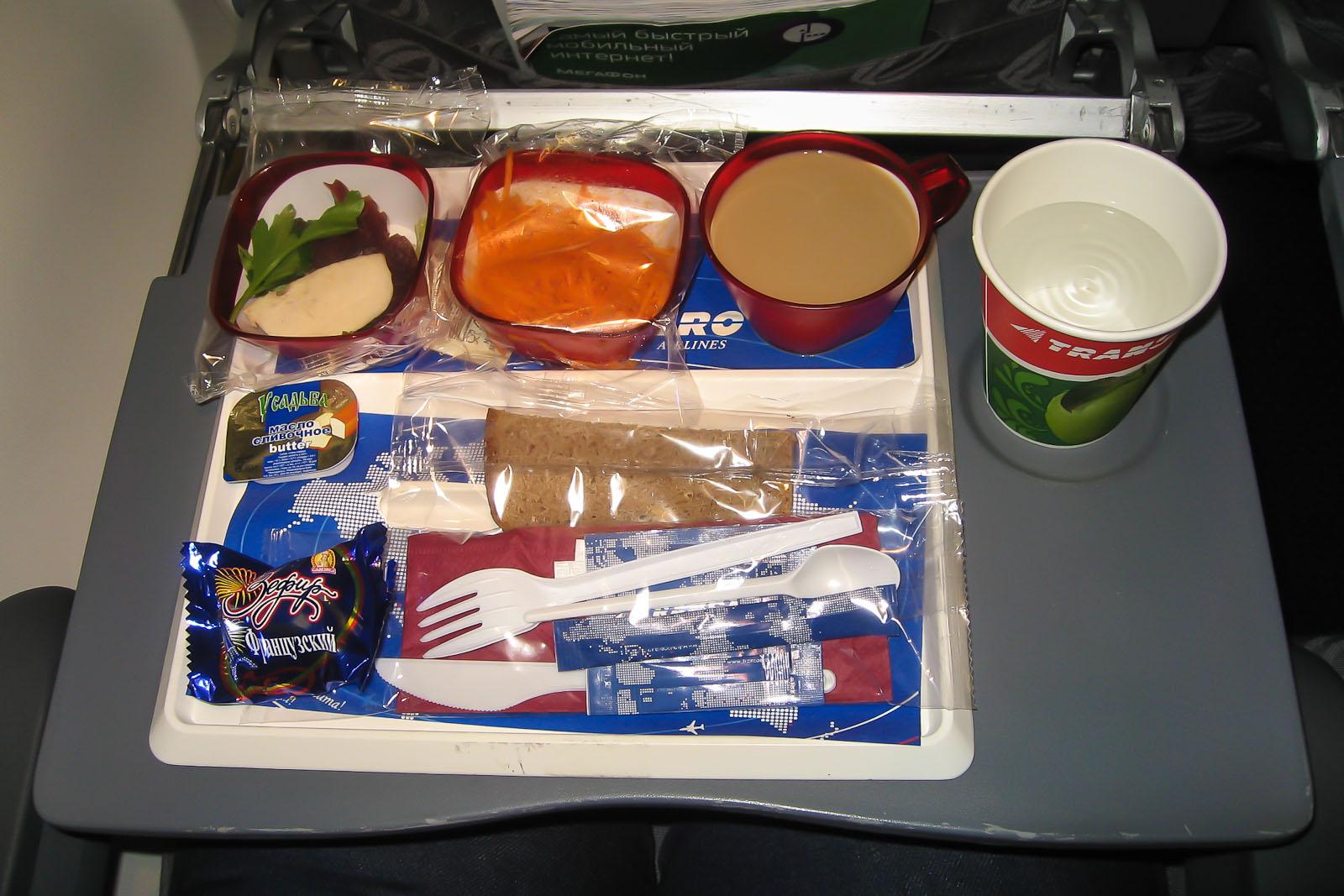 Питание на рейсе Трансаэро Ростов-Москва