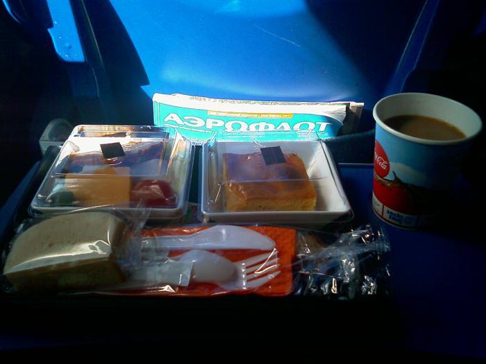 Питание на рейсе Аэрофлота Москва-Копенгаген