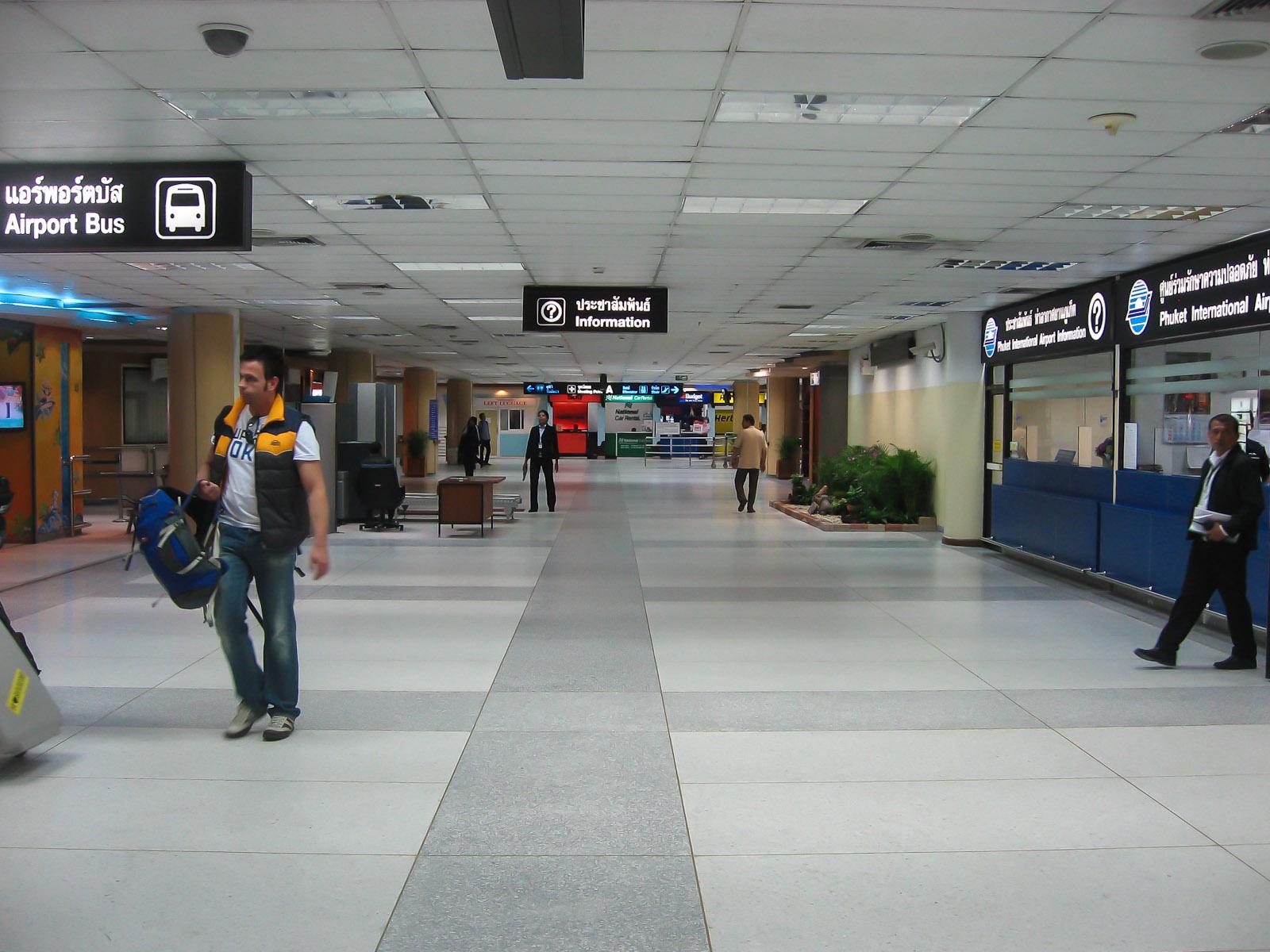 Зал прилета аэропорта Пхукет