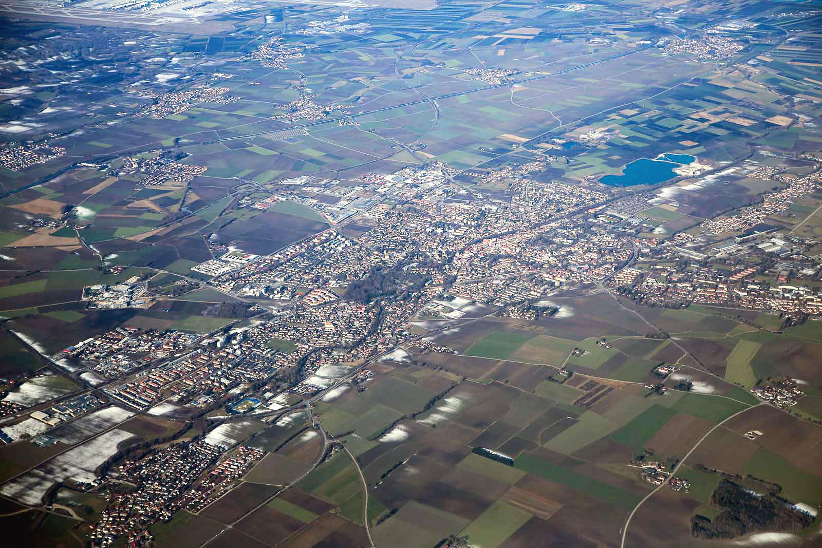 Небольшой город Эрдинг рядом с Мюнхеном