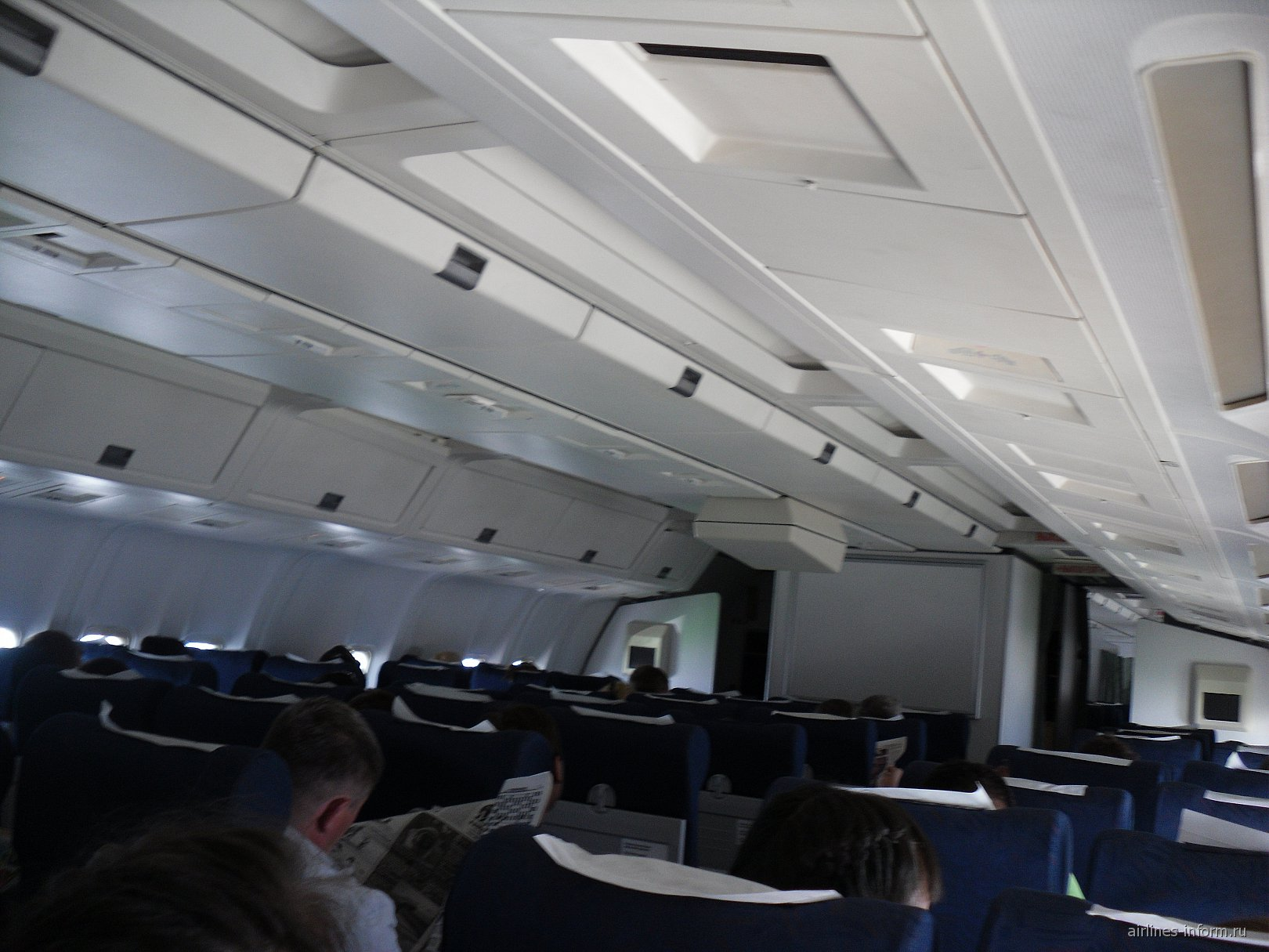 Салон самолета Боинг-767-300 авиакомпании S7 Airlines