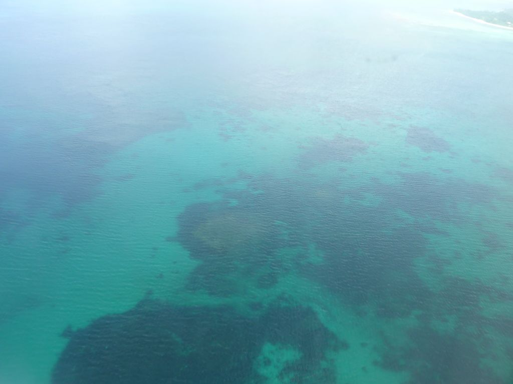 Flying over Seychelles