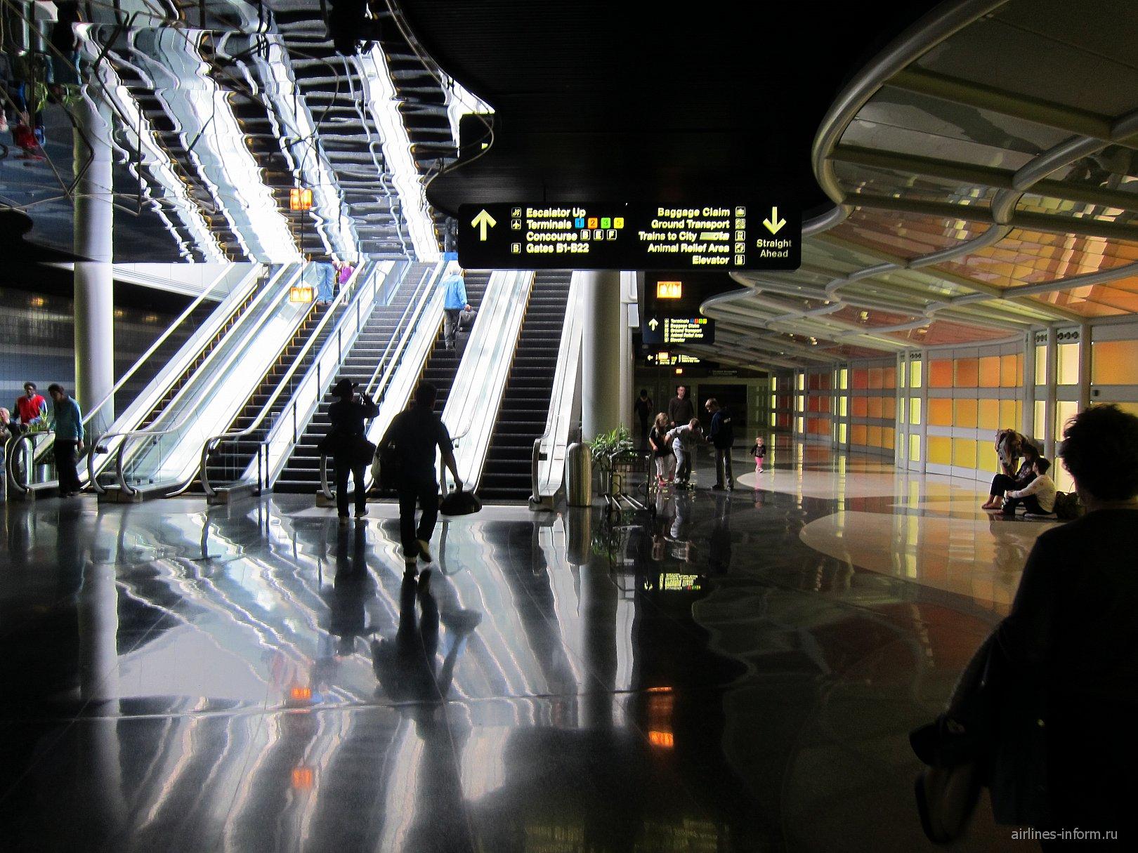 В аэропорту Чикаго О'Хара