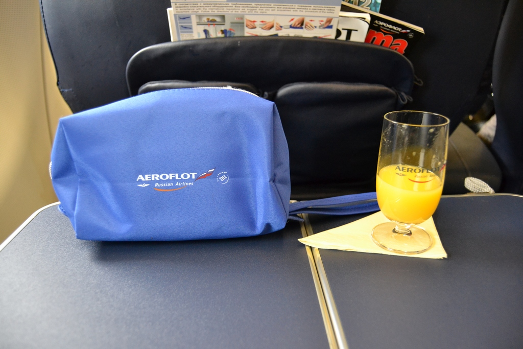 Напитки в бизнес-классе Аэрофлота
