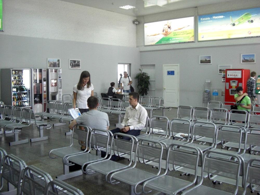 Зал ожидания перед посадкой в аэропорту Казань