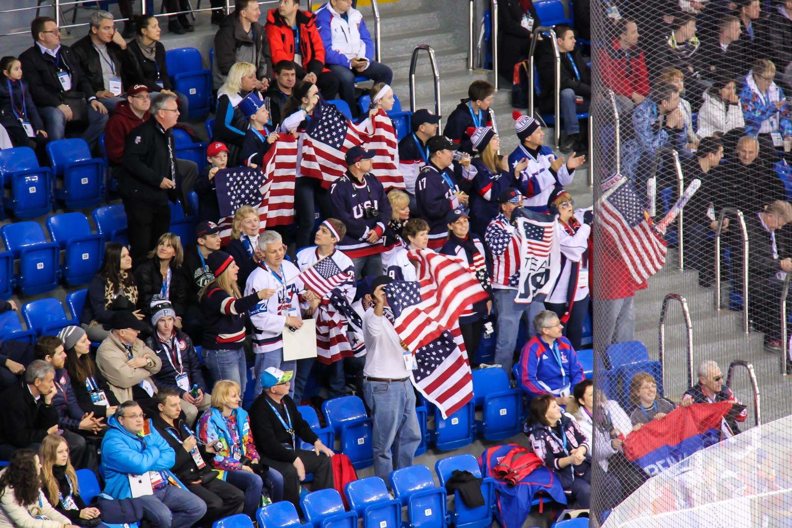 Болельщики из США на зимней олимпиаде Сочи-2014