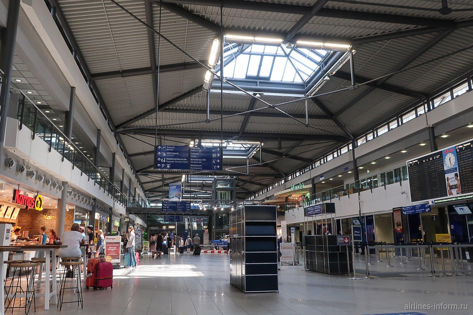 В терминале B аэропорта Лейпциг-Галле