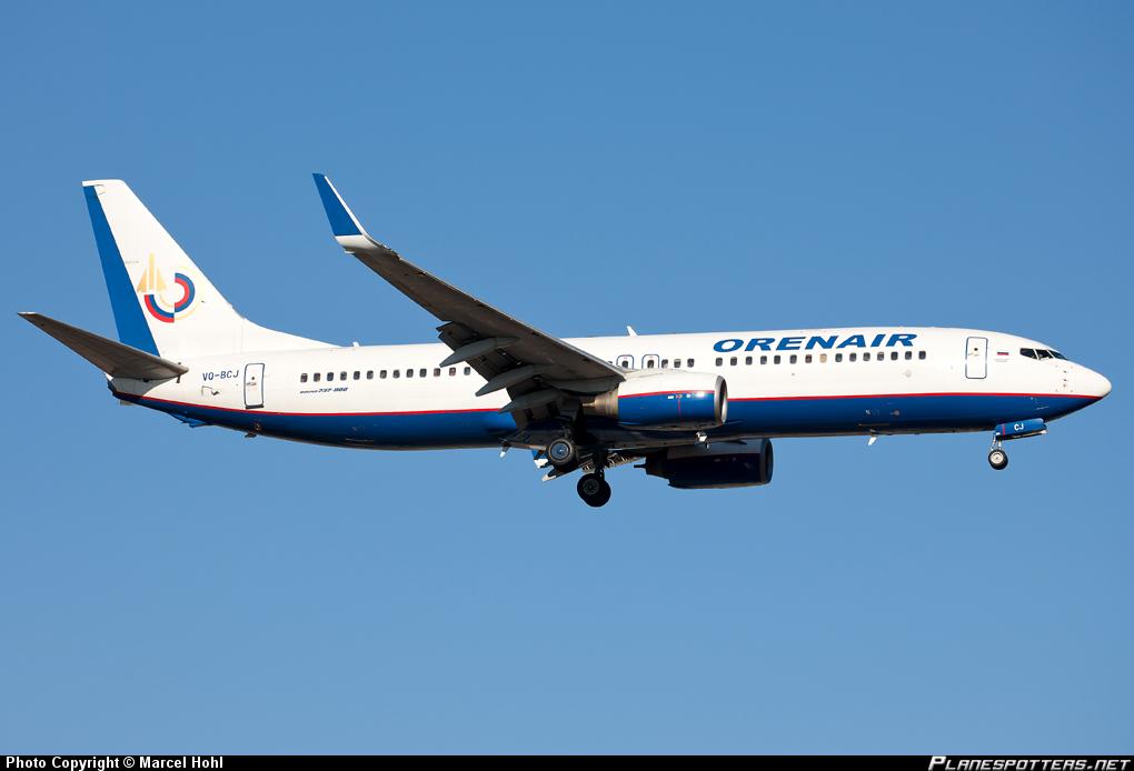 Боинг-737-800 Оренбургских авиалиний