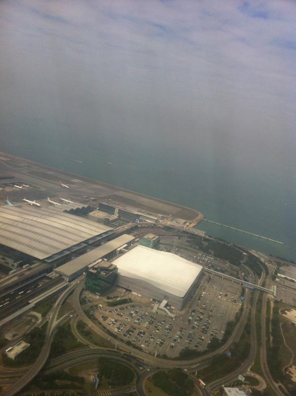 Вид на аэропорт Гонконга