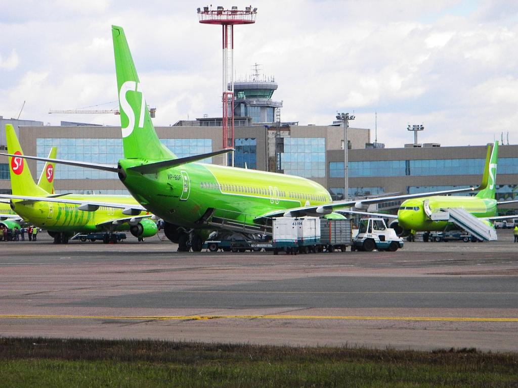 """Boeing 737-800 VP-BDF авиакомпании """"Глобус"""" (S7 Airlines) в аэропорту Домодедово"""