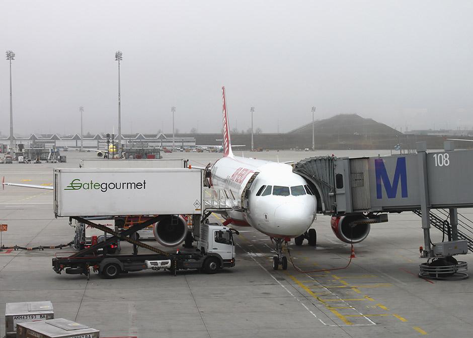 Airbus A320 авиакомпании airberlin в аэропорту Мюнхен