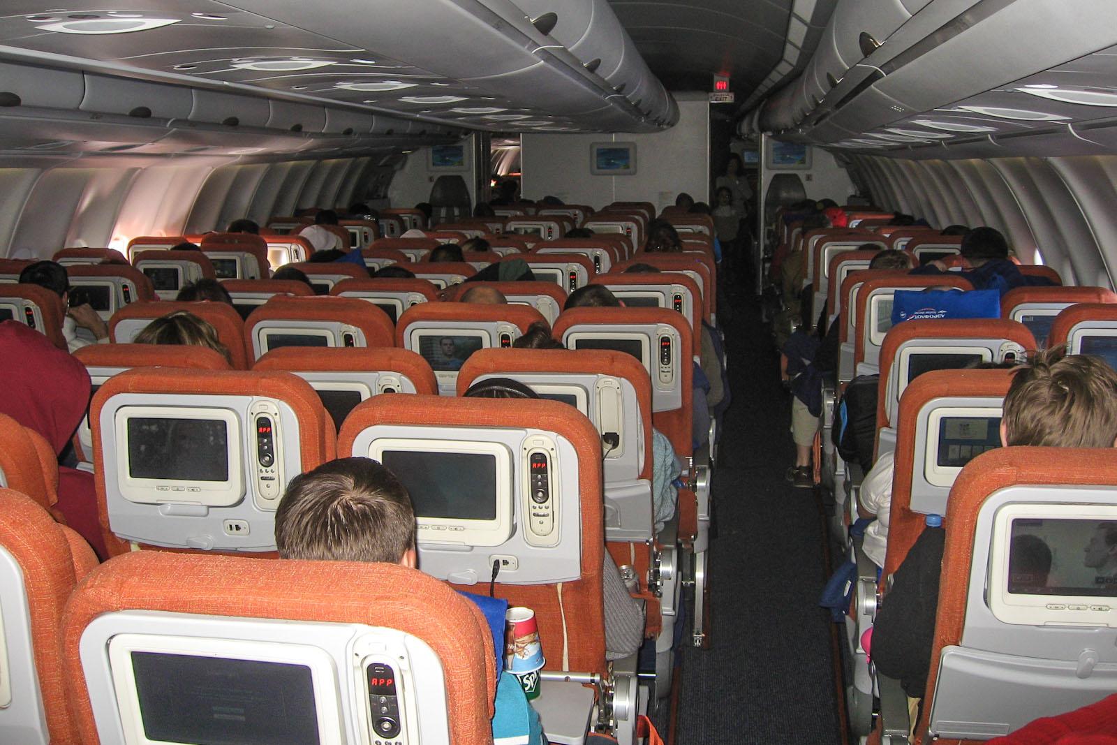 Экономический класс в самолете Airbus A330-200 Аэрофлота
