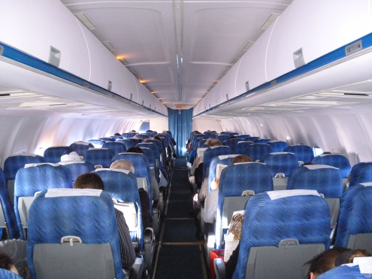 Passenger cabin of Tu-204-300 of Vladivostok Air