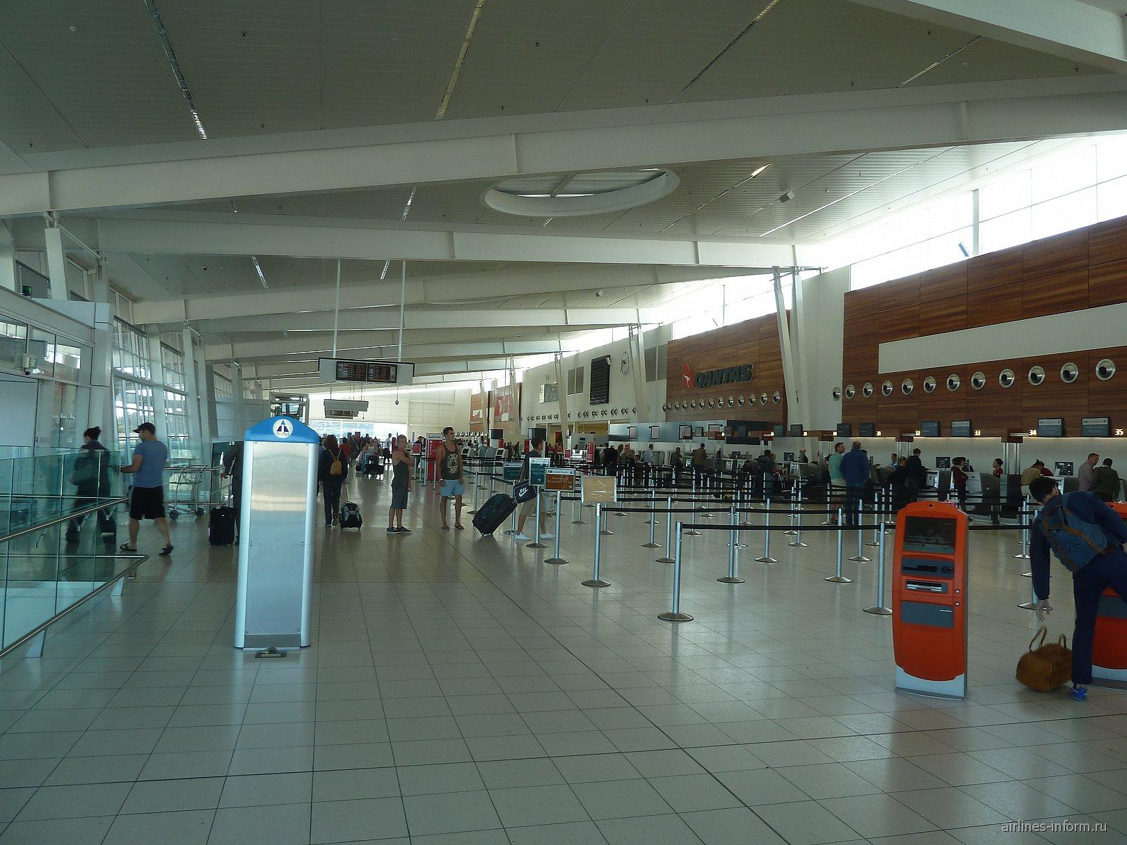 Зал регистрации на рейсы в аэропорту Аделаида
