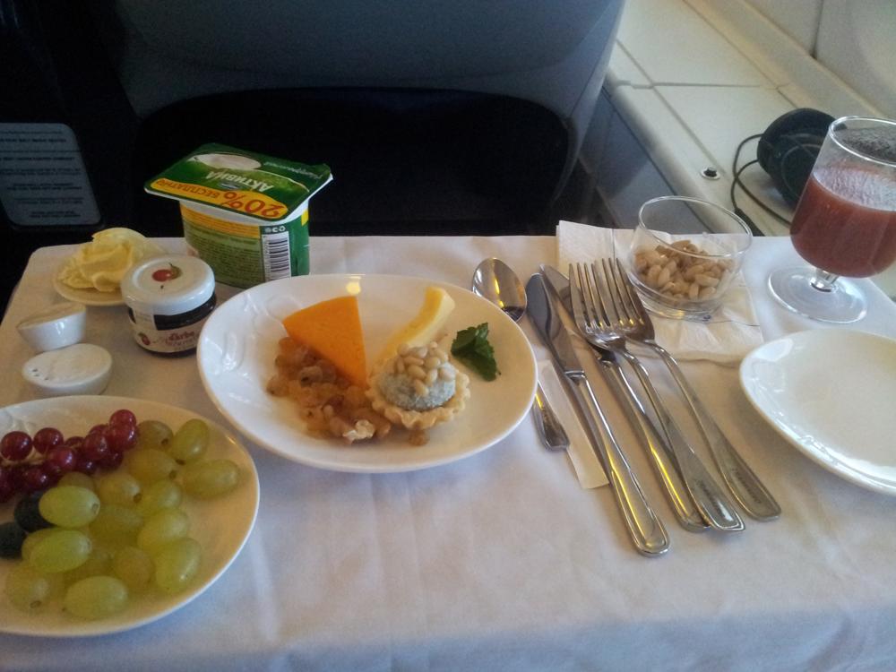 Питание в бизнес-классе Трансаэро на рейсе Москва-Шарм-Эль-Шейх