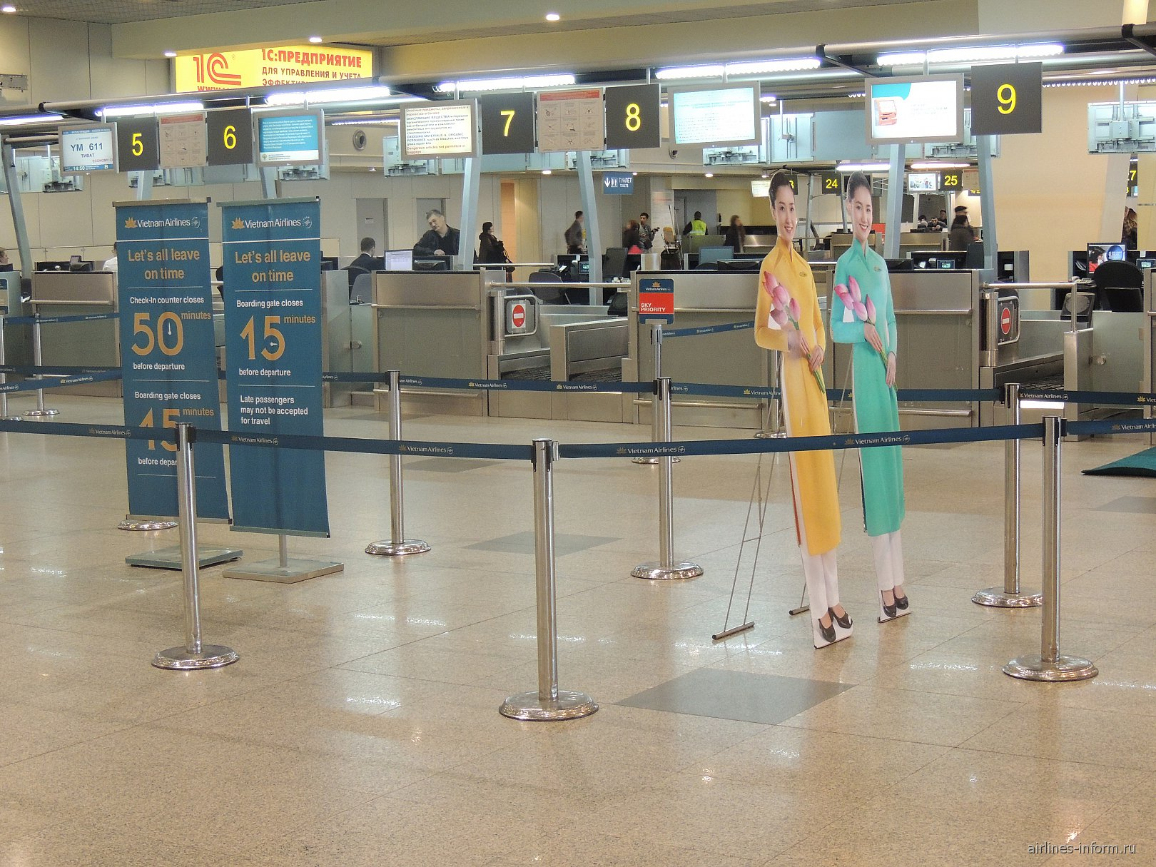 Регистрация на рейс Вьетнамских авиалиний в аэропорту Домодедово