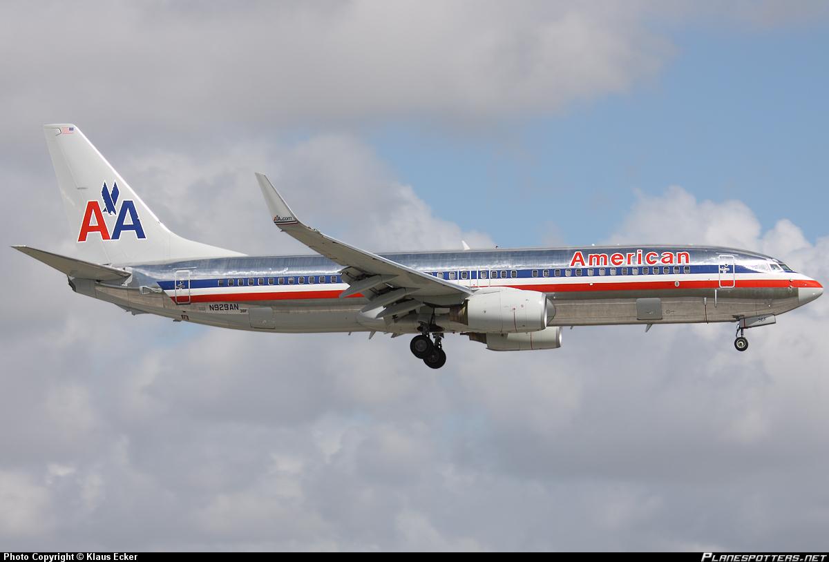Самолет Боинг-737-800 авиакомпании American Airlines