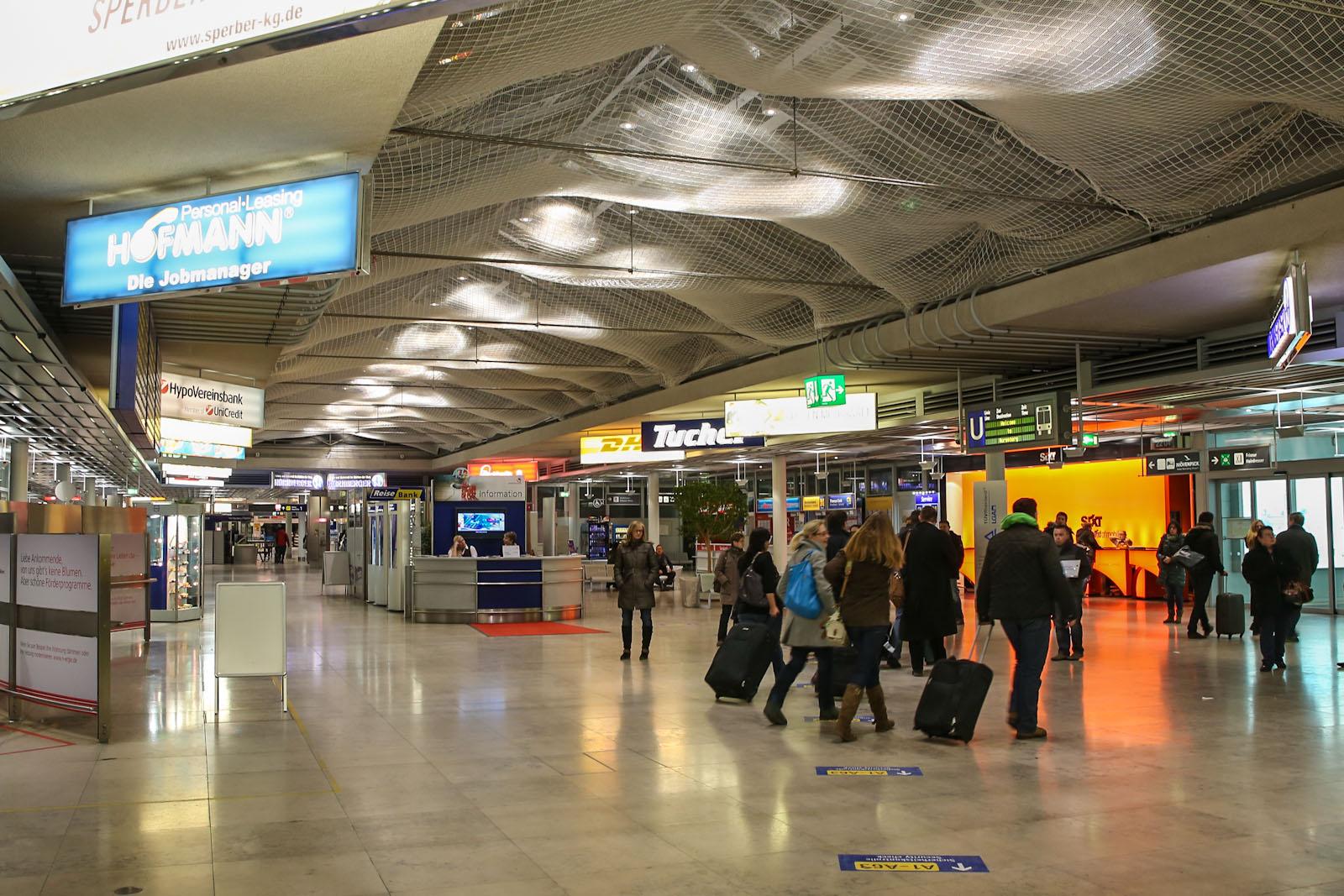 Зал прилета в аэропорту Нюрнберг