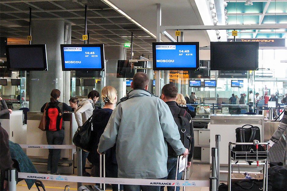 Регистрация на рейс Air France Марсель-Москва