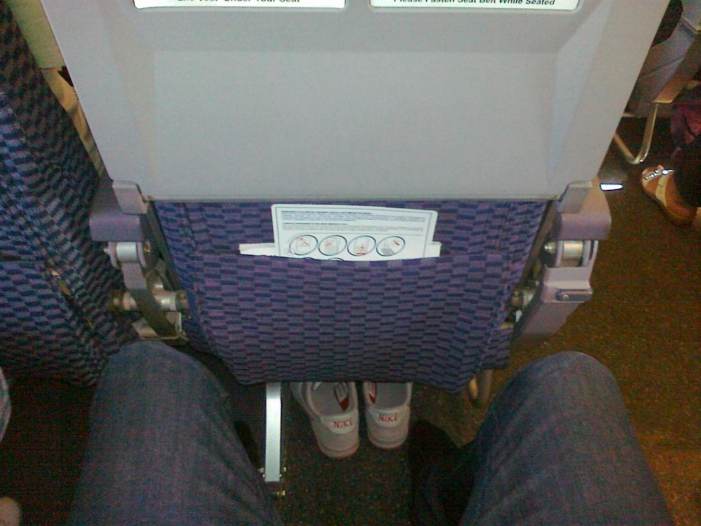 Салон самолета Боинг-737-500 авиакомпании ЮТэйр