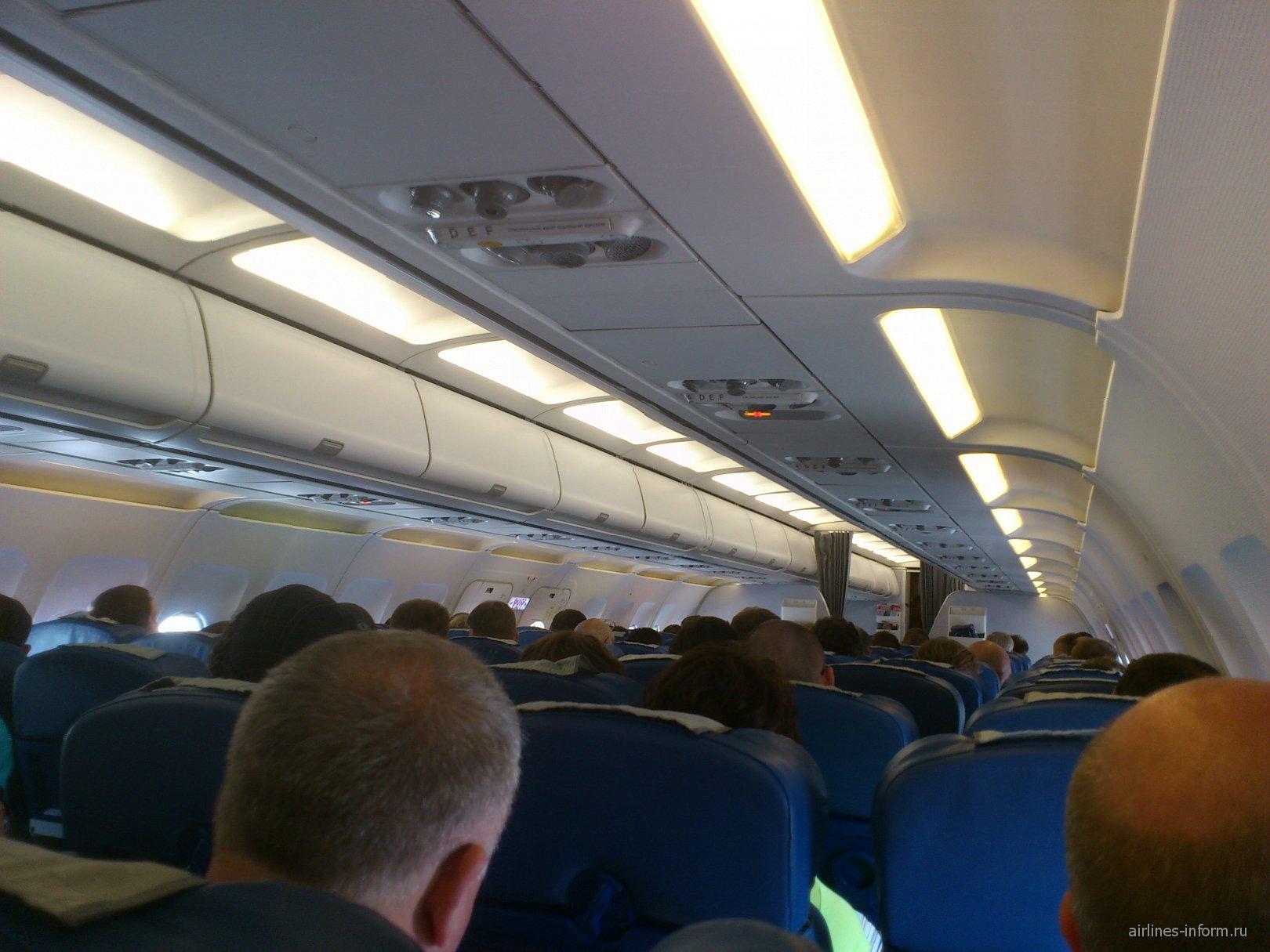 В самолете Airbus A320 Аэрофлота