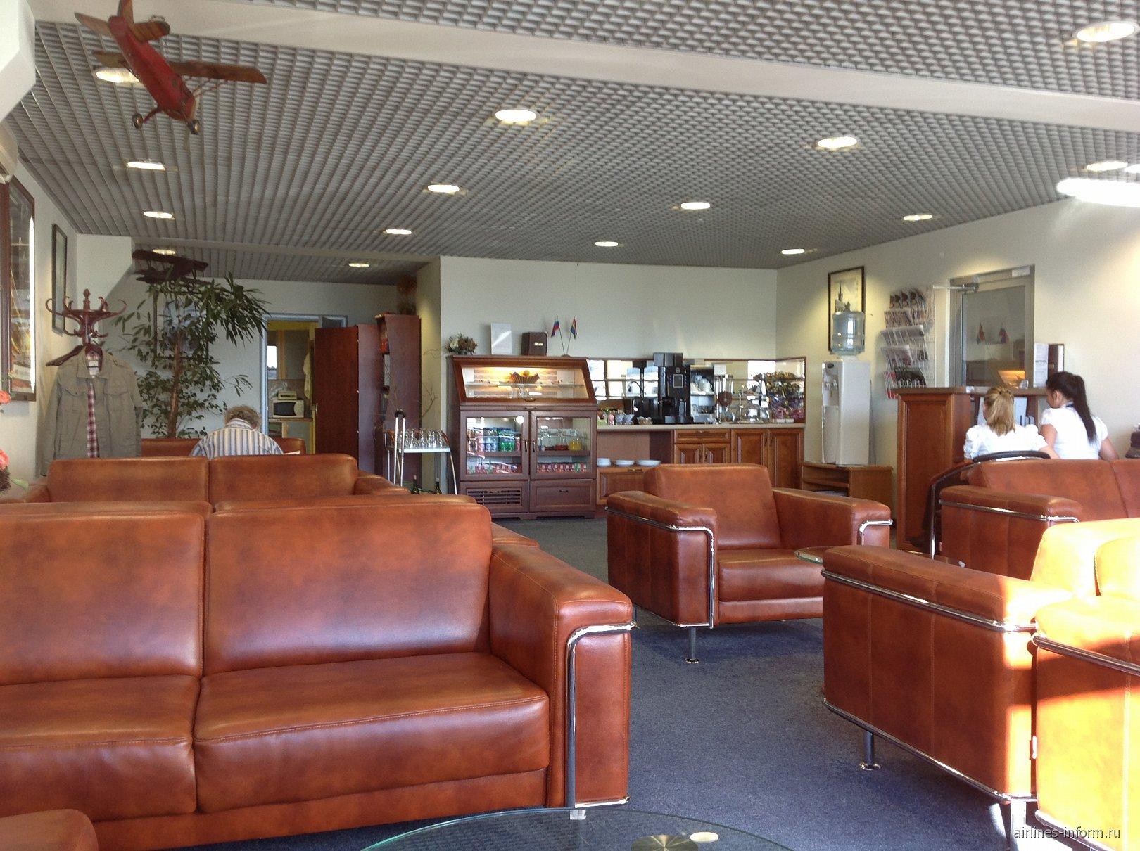 Бизнес-зал в аэропорту Храброво в Калининграде
