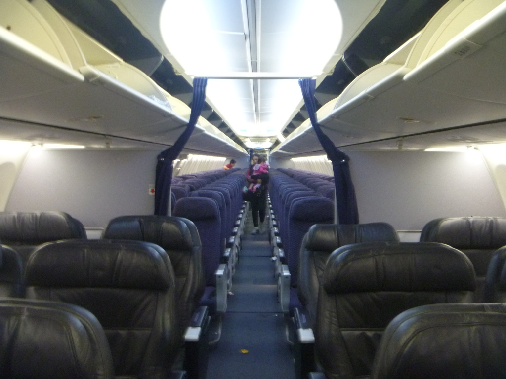Пассажирский салон самолета Боинг-737-800 авиакомпании Copa Airlines