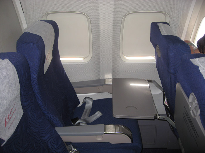Кресла самолета Боинг-757 авиакомпании ВИМ-авиа