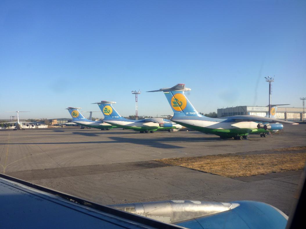 Ил-76 Узбекских авиалиний