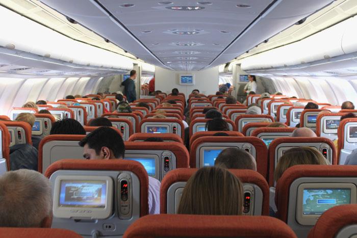 Салон самолета Airbus A330-300 авиакомпании Аэрофлот