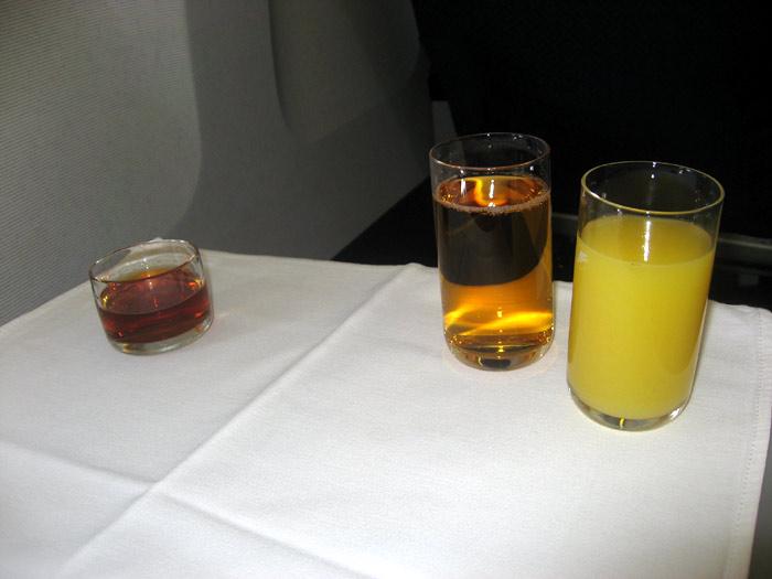 Питание бизнес-класса на рейсе Киев - Нью-Йорк авиакомпании АэроСвит