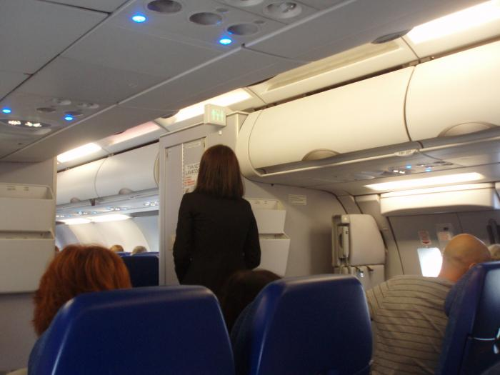 Cabin of Aeroflot Airbus A321