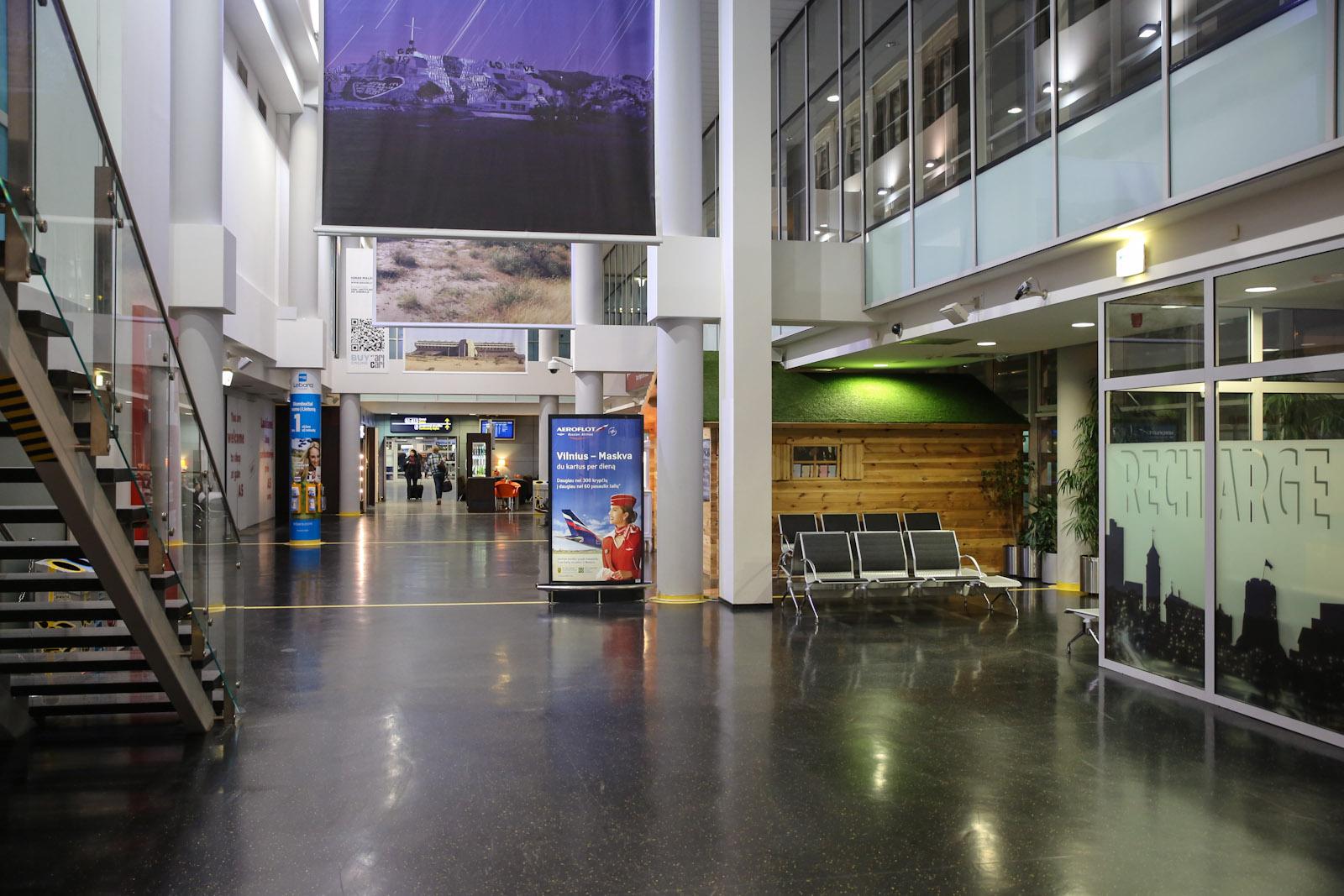 В чистой зоне аэропорта Вильнюс