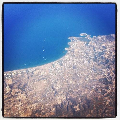 Вид на остров Родос из самолета