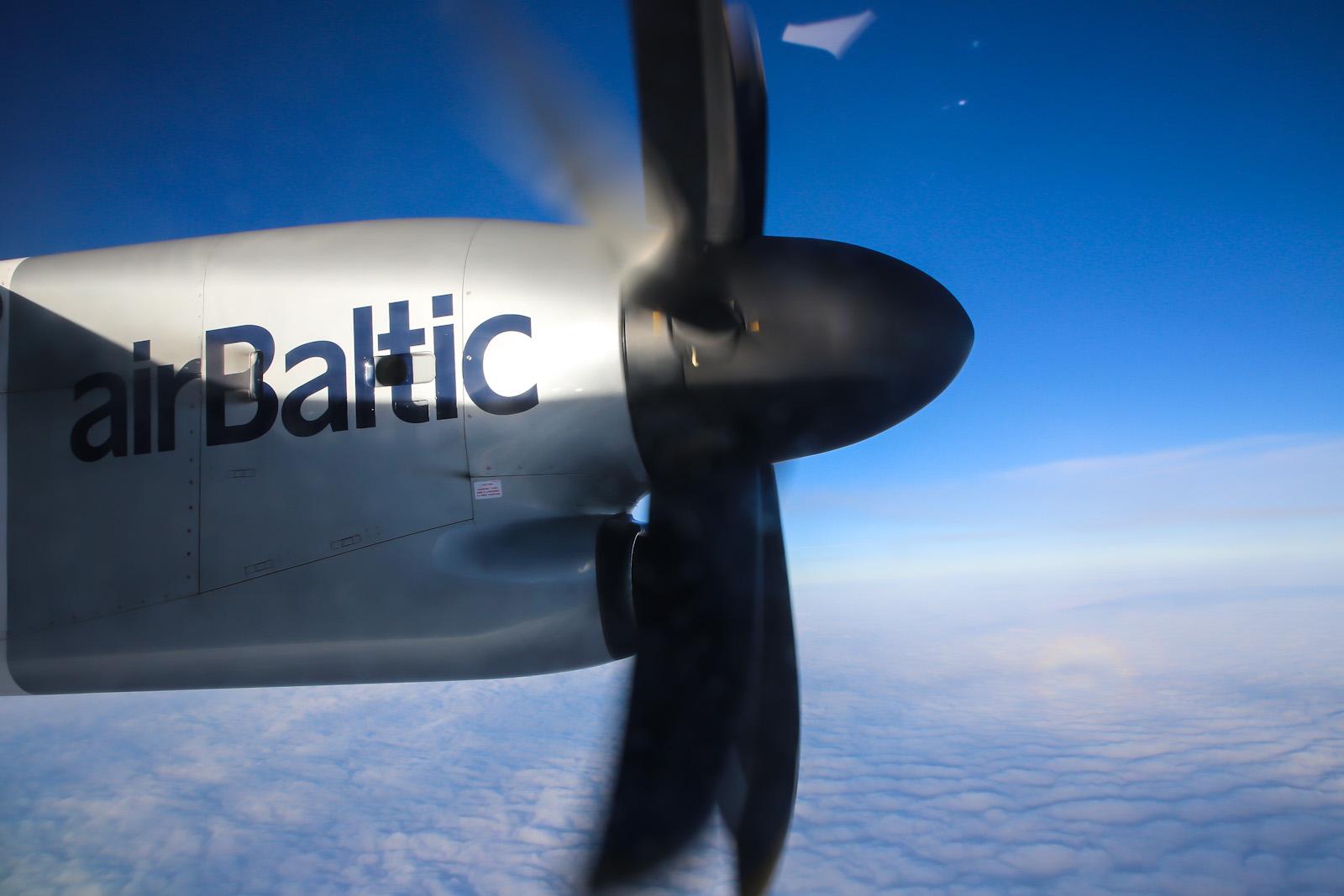 Рейс Рига-Москва авиакомпании airBaltic