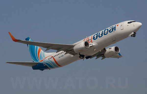 Самолет Boeing 737-800NG авиакомпании Flydubai